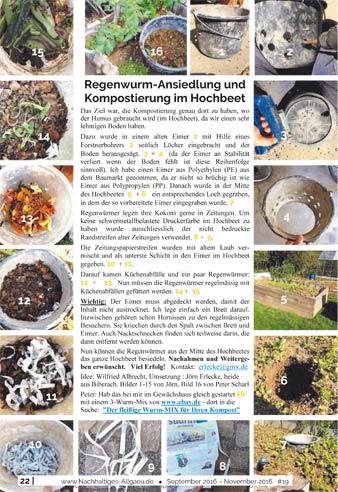 Vermehrung des Regenwurms zur Nachhaltigen Bodendüngung