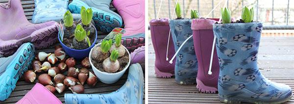Wir bepflanzen Gummistiefel und begrüßen den Frühling!
